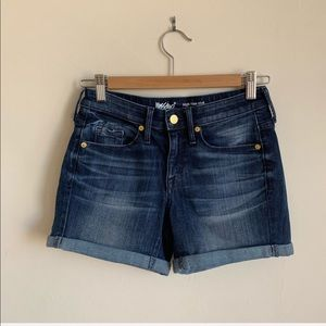 Mossimo Denim High Rise Midi Shorts